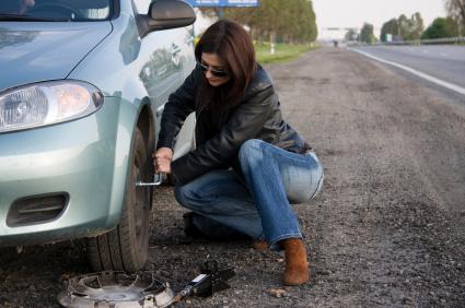 Med punkteringsfria däck slipper du situationer som denna